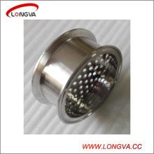 Raccords sanitaires en tuyaux en acier inoxydable Tri Clamp Spool avec plaque filtrante