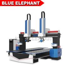 Jinan Blue Elephant New Machine 5 Axis 1224 CNC Router with Yaskawa Servo Motor