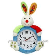 Рекламные креативные и мягкие плюшевые часы для кроликов для детей