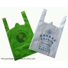 Tamaño personalizado y bolsa de compra tejida en color