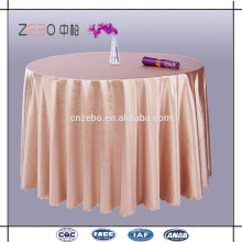 100% Polyester Washable Table Linen Wholesale Sequin Round Wedding Table Cloth