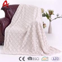 100% polyester brushed gridding solid pv fleece blanket