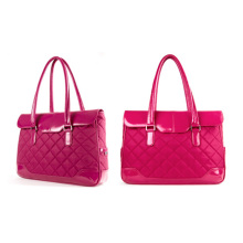 Solo Vintage Collection Women′s Leather Quilted Carryall Tote Laptops Bag 15.6 Inches Travel Luggage Handbag