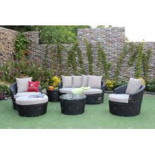 Poly Rattan Patio Garden Couch Set