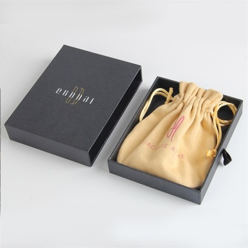 Luxury black drawer bracelet paper box