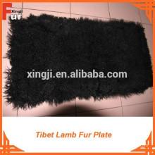Plaque de fourrure d'agneau mongole teint
