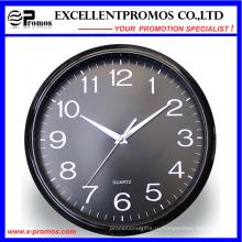 12inch печати логотипа Круглые пластиковые настенные часы (EP-Item12)