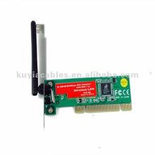 Novo 54M 11g Wi-Fi Wireless LAN PCI placa de rede sem fio + Antena