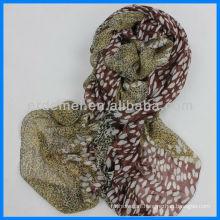 New design flower pattern spring scarf polyester