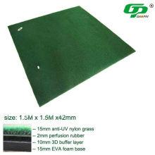 Estera de la gama de golf de los 1.5m * 1.5m / estera del oscilación del golf / estera de conducción del golf