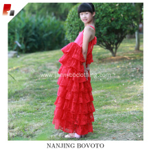 red long maxi dress for toddler girl