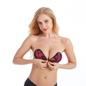 Mulheres Silicone Bra Invisible Push Up bra