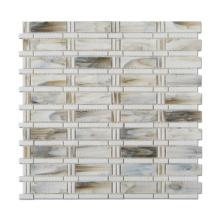 Brick Crystal Stained Glass Mosaic Kitchen Backsplash Tile Mosaic Wall Tiles