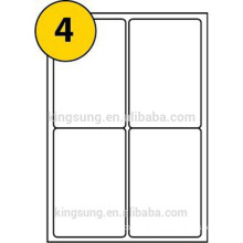 Self Adhesive Paper Material A4 Sheet Blank Label Sticker
