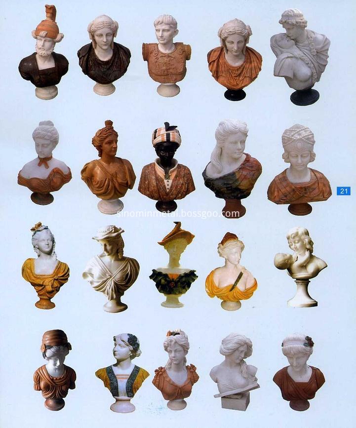 stone bust sculpture