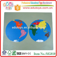 Education Toy Wooden Puzzle Combination Toys World Puzzle Maps