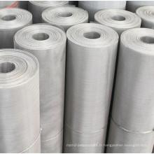 SUS304 bande de conveyeur de treillis métallique de fil plat d'acier inoxydable