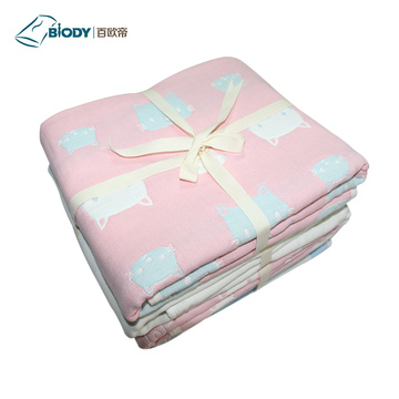 Soft Wave Point Impreso NewBorn Baby Multilayer Manta
