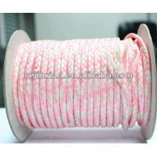 Заплетенная веревочка PP,белый и розовый плетеный Канат