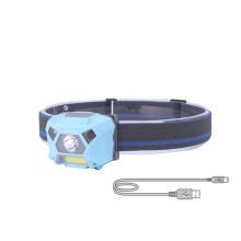 Lámpara de cabeza corriente con sensor de movimiento súper brillante