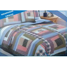3 peças de colcha de retalhos de algodão para cama