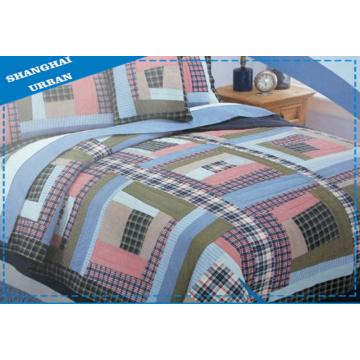 Edredón de retazos de ropa de cama de algodón de 3 piezas