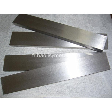 Plaque de niobium pur en stock