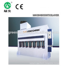 popular reliable melamine laminating machine / automatic melamine hot press machine / combined woodworking machine