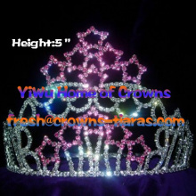 Star Rhinestone Pageant Crowns