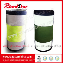 10.7cm width multi colored reflective polyester webbing