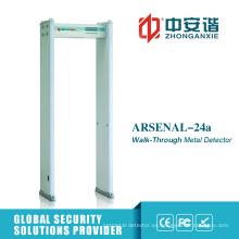 18 zonas alarma Archway detector de metales con la gestión de contraseñas