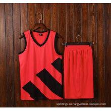 Горячая Баскетбол Джерси Пользовательские Печать Баскетбол Одежда Человек Спортивная Футболка 100% Полиэстер