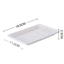 Disposable biodegradable cornstarch tray Biodegradable Disposable corn starch square food tray
