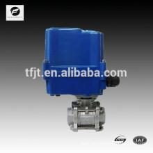 2 way 3 inch electric actuator ball valve standard three piece design stainlessssteel