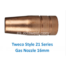 Boquilla de gas Tweco 21-62 16mm