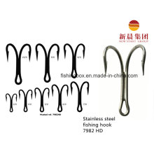 Silver Color Stainless Steel Double Trolling Fishing Hook 7982