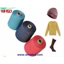 Fil de laine de nylon Cachemire mélangé pour le tricotage et le tissage