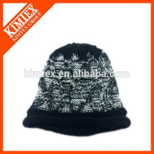 Fashion acrylic iceland chunky cable knitting thicker warm bobble hat beanie