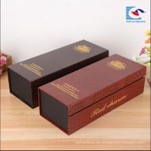 Alta calidad personalizada de alta gama de envases de papel fabricantes de cajas de vino