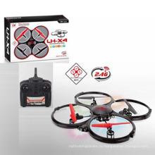 Утверждение En71 4-канальный 2,4G 4-осевой радиоуправляемый дрон с зарядным устройством и вспышкой (10192217)
