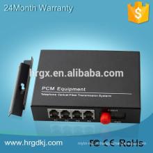 HR 1/2/4/8/16-Channel Vídeo e Dados Transmite Conversor de vídeo de fibra óptica digital