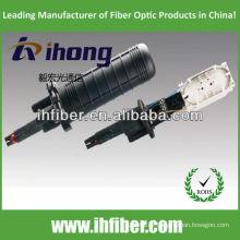 4 dans la fermeture d'épissure en fibre optique à 4 sorties / verticales