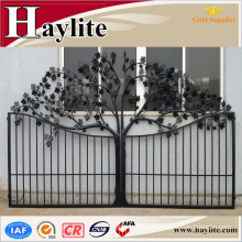 cast iron square tube grill gate design with hinge