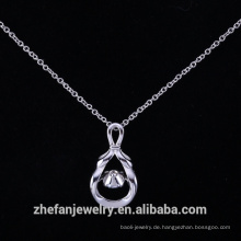 Gravur Sterling Silber Anhänger Tanzstein Silber vergoldet