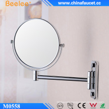 Double Sided Brass Frame Wall Extendable Mirror