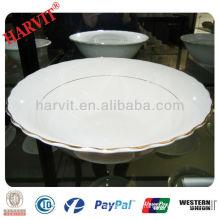 Ceramic silver salad bowl