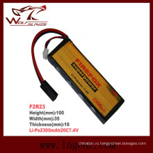 Высокая емкость Firefox-2300mAh 7.4V 20 c Li-Po батарея Li-Polymer