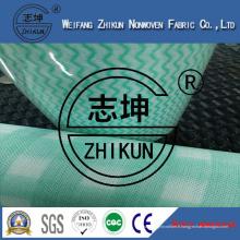 Tissu non-tissé de Spunlace avec trois couleurs (38g-100g)