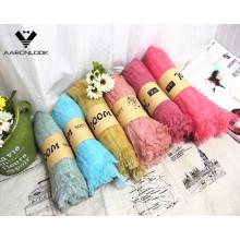 Высокое качество сплошного цвета оптовый проверенный шерстяной шарф