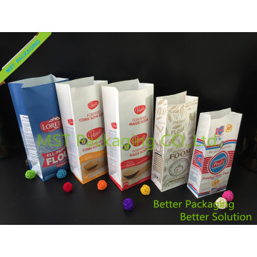 PE Laminated Packaging Paper Bags Flour